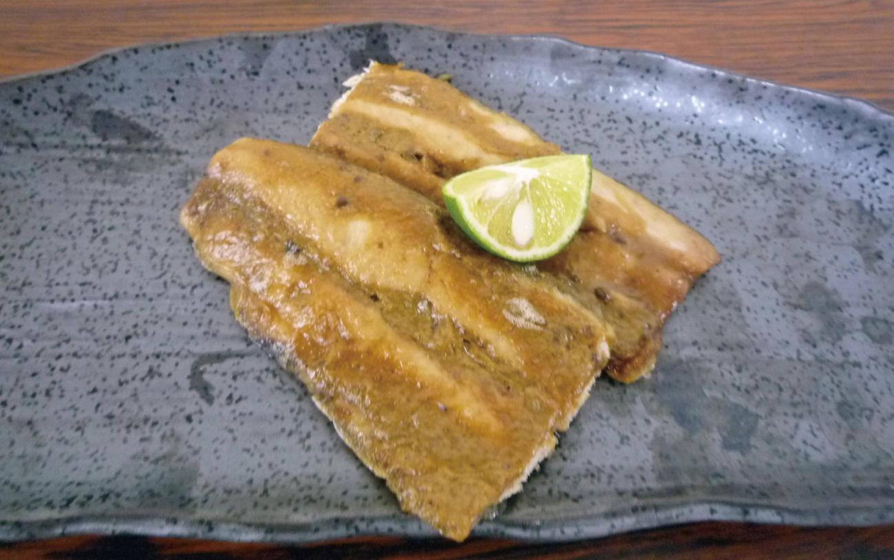 秋刀魚のわた焼き