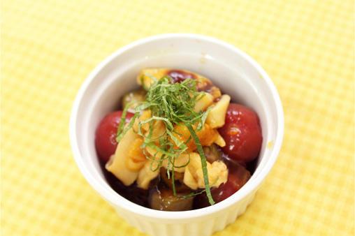 トマトとオクラのポン酢ジュレ&ほや塩辛浅漬けタイプ
