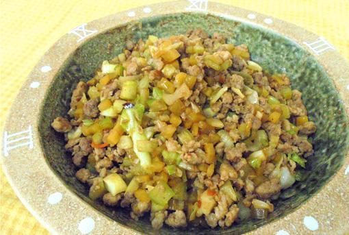 <泡菜肉末>豚ひき肉といろいろ漬物の炒め