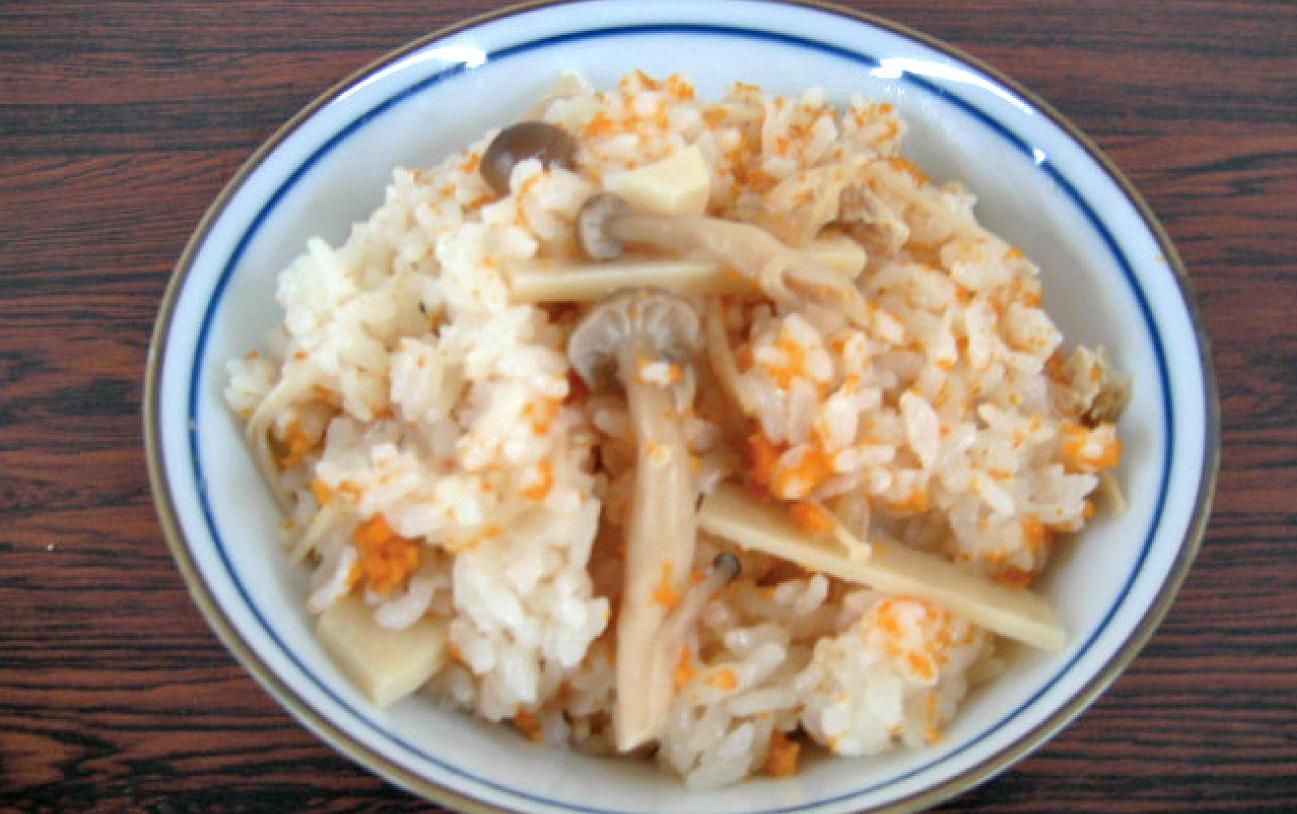 蒸しウニの炊きこみご飯