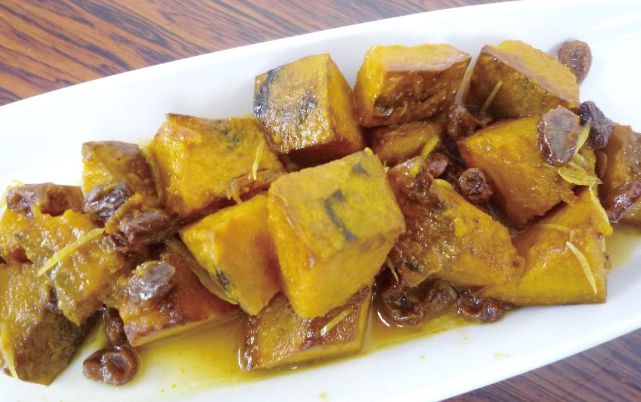 カボチャのオレンジ風味