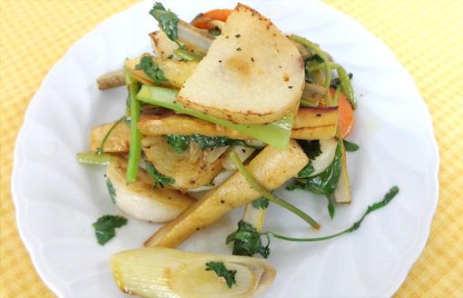 青森県産根菜類のフリキャッセコリアンダー風味