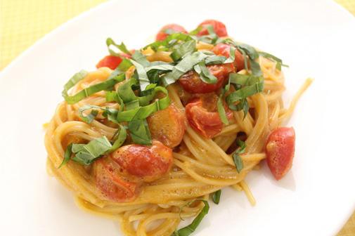 ウニとトマトのスパゲッティ