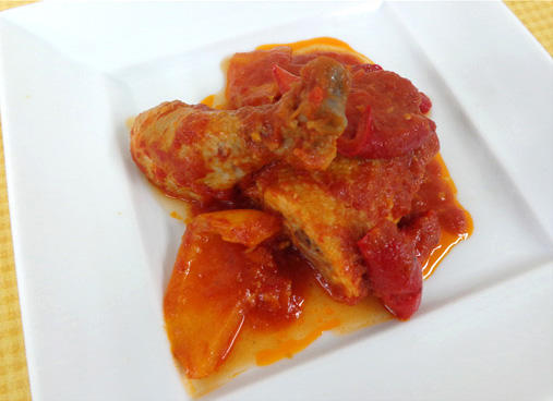 鶏のローマ風煮込み -Pollo alla romana-