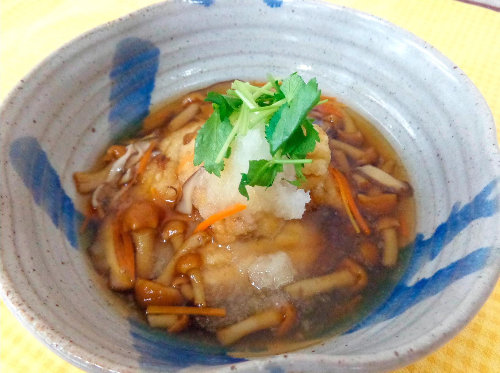 鮫の唐揚げ 秋の野菜あんかけ