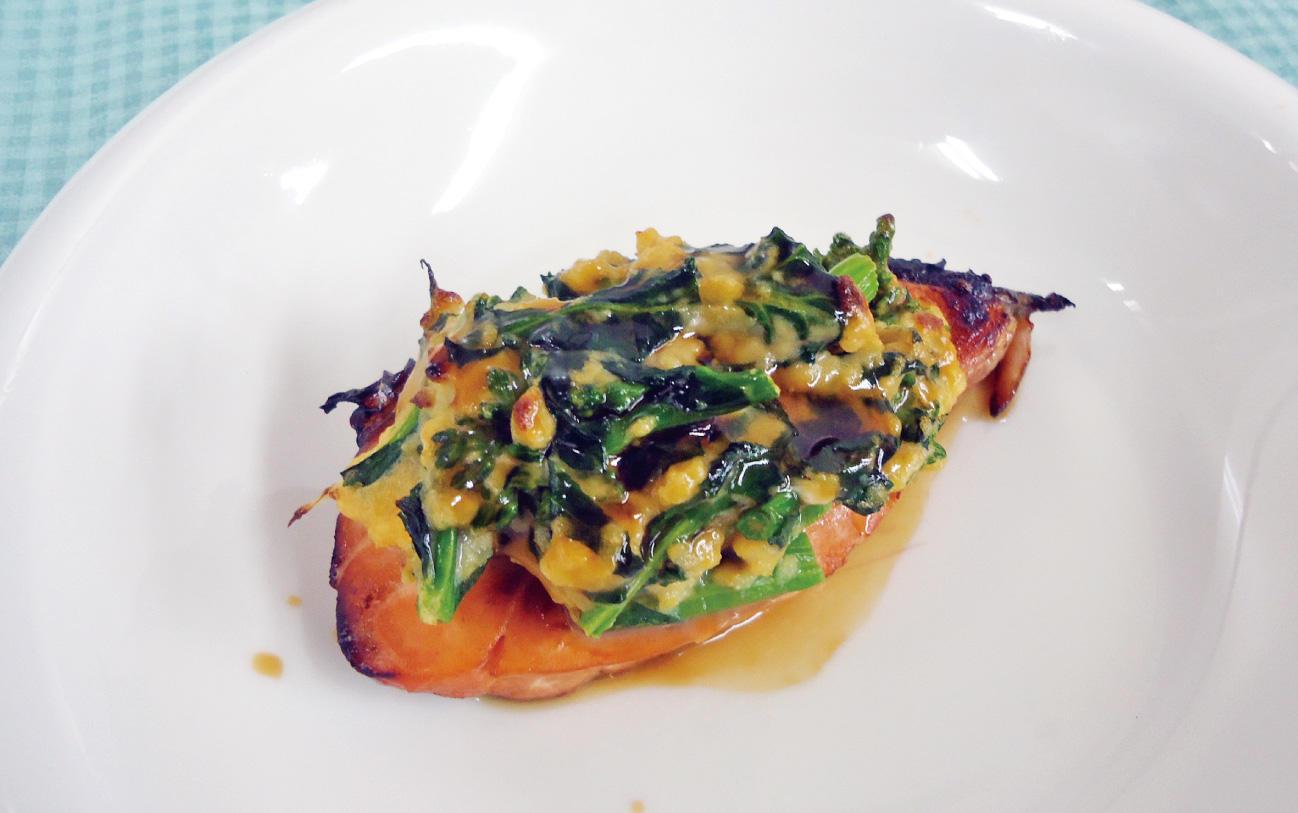 サーモンの菜種焼き