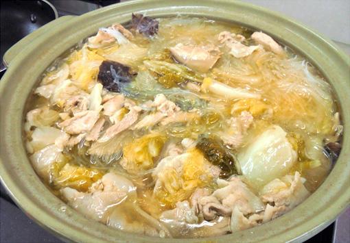 <扁炉>白菜と春雨の鍋
