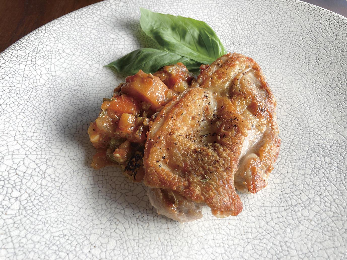 鶏もも肉のソテー ラタトゥイユ添え