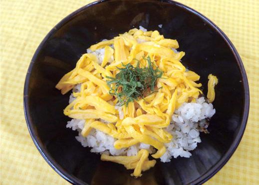 オイランガレイの干物のちらし寿司