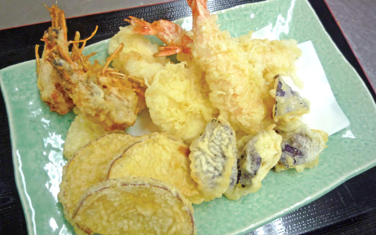 海老とイカと夏野菜の天ぷら