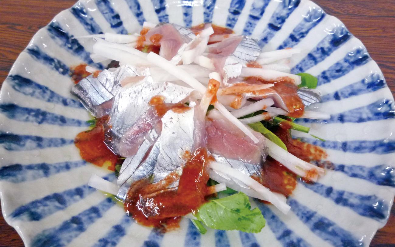 秋刀魚のサラダ仕立て